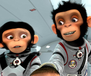 Still shot from the movie: Space Chimps.