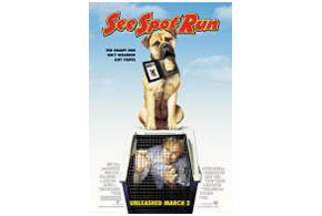 Still shot from the movie: See Spot Run.