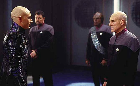 Still shot from the movie: Star Trek: Nemesis.