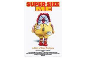 Still shot from the movie: Super Size Me.