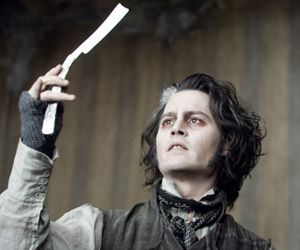Still shot from the movie: Sweeney Todd: The Demon Barber of Fleet Street.