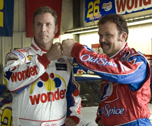 Still shot from the movie: Talladega Nights: The Ballad of Ricky Bobby.