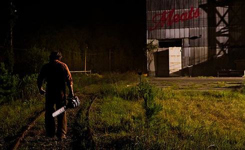 Still shot from the movie: Texas Chainsaw.