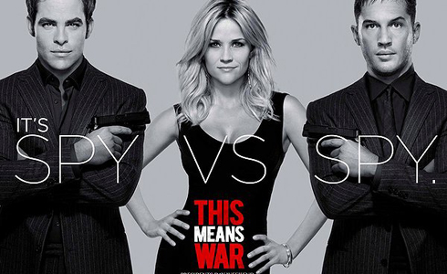 Still shot from the movie: This Means War.