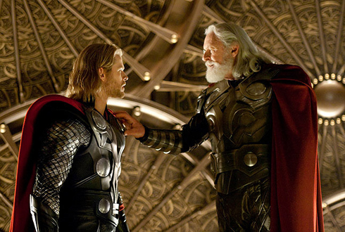 Still shot from the movie: Thor.