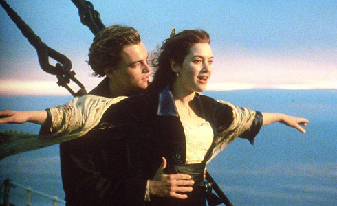 Still shot from the movie: Titanic.