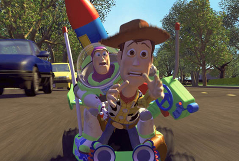 Still shot from the movie: Toy Story.