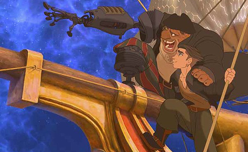 Still shot from the movie: Treasure Planet.
