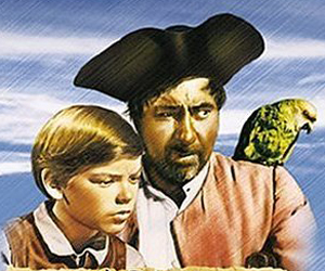 Still shot from the movie: Treasure Island.
