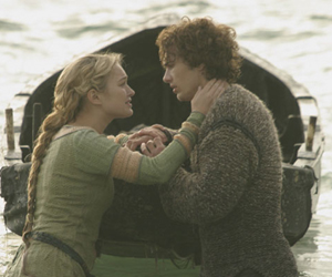 Still shot from the movie: Tristan & Isolde.