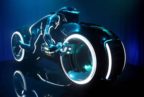 Still shot from the movie: Tron: Legacy.