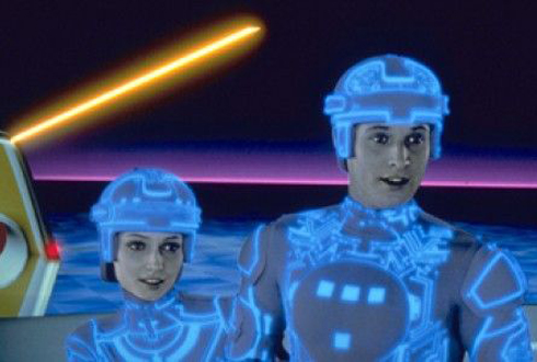 Still shot from the movie: Tron.