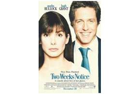 Still shot from the movie: Two Weeks Notice.