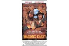 Still shot from the movie: Wagons East.