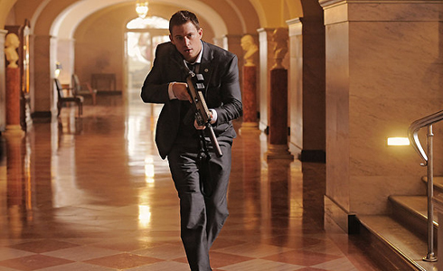Still shot from the movie: White House Down.