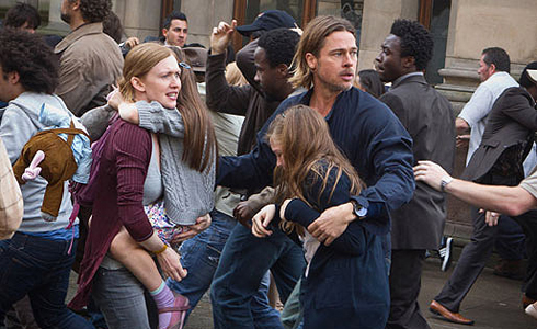 Still shot from the movie: World War Z.
