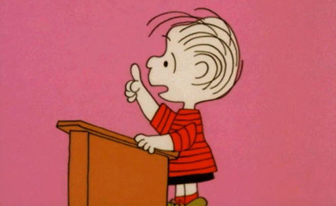 Still shot from the movie: You're Not Elected Charlie Brown.
